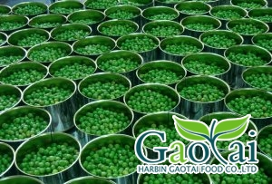 canned green pea in brine